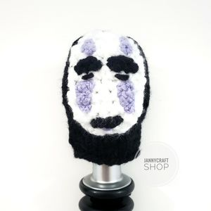 Shift knob cover beanie handmade - No face spirit